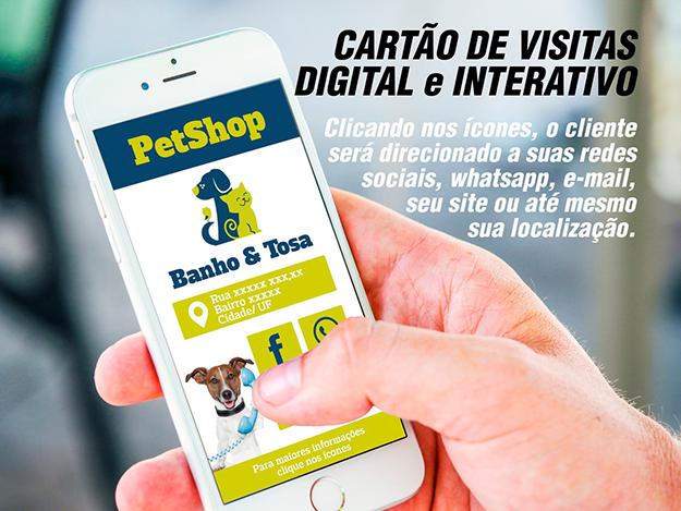Criação d cartão de visita virtual em Goiânia