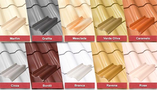 telhas esmaltadas em Goiânia
